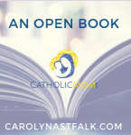 logo Open Book carolynastfalk.com